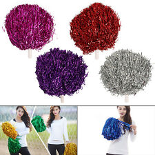 100G Cheerleader Pom Pom Metallic with Handles 7Colours for Dance Costume Party