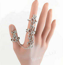 Girl Rings Multiple Fingers Stack Knuckle Band Crystal Set Women Fashion Jewelry