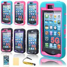 PC Shockproof Dirt Proof Hard Matte Cover Case +Screen Film For Apple EA77