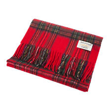 Edinburgh 100% Lambswool Wide Scottish Tartan Scarf