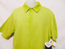 CALLAWAY Mens Polo Style Shirt Macaw Green/White Striped Short Sleeve New $70