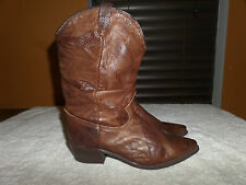 WOMEN'S DINGO BROWN SNAKE LEATHER SLOUCH WESTERN COWBOY BOOTS SIZE 7.5 M