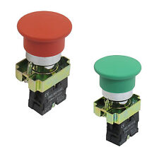 22mm N0 Green Mushroom Momentary Push Button Switch 600V 10A ZB2-BC31 SYH
