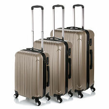 """Champagne 20""""- 28"""" Luggage 4 Wheel Spinner Suitcase ABS Trolley Case Travel Bags"""
