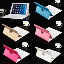 PU Leather Case Cover Stand with Removable Bluetooth Keyboard For iPad Air Mini