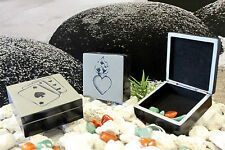 Good Luck Lucky Stone Made Storage Square Trinket Boxes Velvet Lined