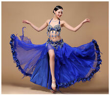 B&D CUP New Belly Dance Performing Costume Bra&Belt skirt carnival Bollywood