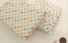 """Cotton Double Gauze Fabric Muslin Baby by the Yard Korean wide 59""""_Pastel Doll"""