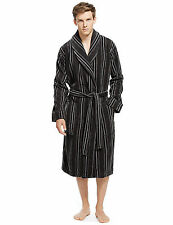 Ex M&S Mens Pure Cotton Luxury Velour Dressing Gown Bath Robe rrp £59