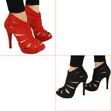 Womens Platform Pumps Peep Toe Stiletto High Heels Lady Sandals Shoes AS