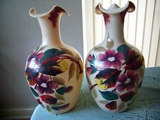 A Victorian Pair Of Opaline Glass Vases