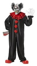 Last Laugh Evil Clown Adult Mens Costume, White/Black, California Costume