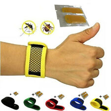 Anti Mosquito Bug Insect Repellent Bracelet Wrist Band and 2pcs Repellent Refill