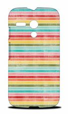 FUN RAINBOW LINES PATTERN #2 CASE COVER FOR MOTOROLA MOTO G (1ST GEN) G1