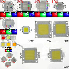 10W 20W 30W 50W 100W RGB SMD Bright High Power LED Bead Chips Flood Light Bulb