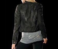 Sinful Womens DARE Denim Jacket S M NWT NEW Wings Jeans Studs Black Affliction