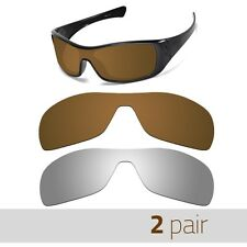 Optico Replacement Polarized Lenses for Oakley Antix Sunglasses Brown+Mirror Spo