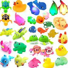 1/12 Wind Up/Squeaky Rubber Animal Kid Baby Swimming Floating Bath Time Play Toy