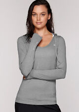 NEW Womens Lorna Jane Activewear Abbey Hooded Excel L/Slv Top