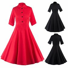 Women Gorgeous Vintage 50s 60s Swing Pinup Retro Cocktail Party Housewife Dress