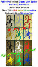 Reflective Scorpion Glossy Vinyl Stickers For Car or Home Decal- Single or Twin