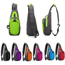 Mens Womens Waterproof Shoulder Sling Chest Bag Running Hiking Day Pack Backpack
