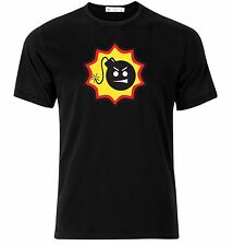 Serious Sam smiley bomb logo gamers Game Cool Funny Black Tee T-shirt