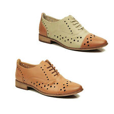 WOMENS LADIES CASUAL LACE UP SCHOOL OFFICE OXFORD LOAFERS SHOES PUMPS SIZE 3-7