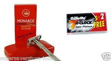 Monarch Butterfly Double Edge Shaving Safety Razor With Gillette 7 o Clock Blade