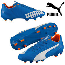 Puma EvoSpeed 4.4 FG Men's Football Boots Blue Lightweight Moulded Studs Shoes