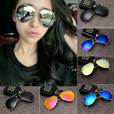 Unisex Vintage Retro Womens Mens Glasses Aviator Mirror Lens Sunglasses Fashion