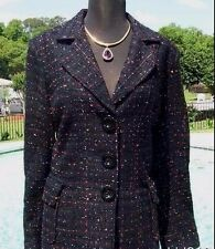 Cache $298 METALLIC KISSED TEXTURED COAT Jacket Top Lined NWT S/M/L