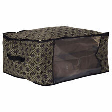 Finlay & Smith STORAGE BAG Stripes with Handle Folds Flat BROWN - Jumbo or Large