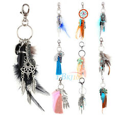 Keychain Keyring Feather Tassel Pendant Dreamcatcher Key Chain Ring Keyfobs Gift