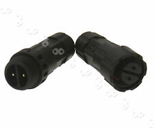 IP67 Assembled Waterproof Electrical Cable Connector Plug 2 Pins Socket