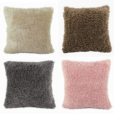 Fashion Solid Color Fluffy Throw Pillow Cases Cushion Covers Home Car Sofa Décor