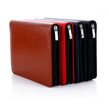 A5 2018 Daily Planner Schedule Notebook Diary Zipper Leather Card Pen Holder Pad
