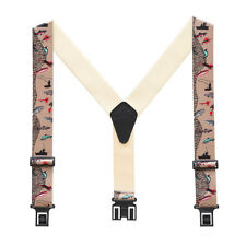 New Perry Suspenders Mens Elastic Hook End Fisherman Suspenders (Reg & Tall)