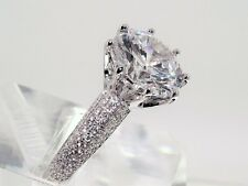 THIS IS REAL STERLING SILVER Diamond Solitaire Engagement Ring STAMPED 925