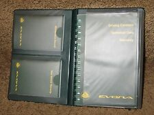 2012 Lotus EVORA Owners Manual Set