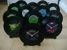 "Vintage/Retro 1980's 7"" Vinyl Wall Clock- PICK YOUR OWN £12.99 each"