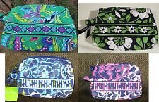 VERA BRADLEY Small Cosmetic Makeup Bag Emerald Lucky You Katalina FREE SHIP