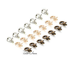 Necklace bronze copper Findings clasps lobster clasp gold white colored 50pcs