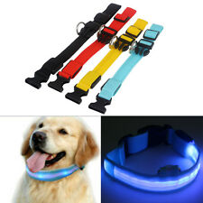 Adjustable Flashing Glow Light LED Tags Collar Pendant For Pet Dog Puppy Night