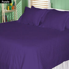 1000TC 100% EGYPTIAN COTTON  PURPLE STRIPE BEDDING ITEM CHOOSE SIZE & BEDDING