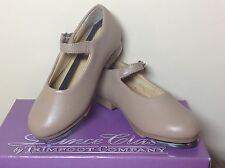 Dance Class Brand Tan Buckle Tap Shoes Youth  Size 5-5 1/2M