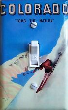 COLORADO Tops Vintage Ski Poster Switch Plate (single/double) *FREE SHIPPING*