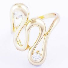 Unique style womens Gemstone clear crystal Twisted rings size 6 7 free shipping