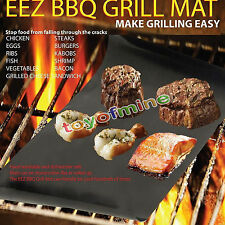 Grill Bake Nonstick BBQ Mats Pack Easy Baking Grilling ,As Seen on Tv