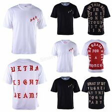 White Black Western Style KANYE WEST PARIS YEEZUS Short Sleeve T Shirts Clothes